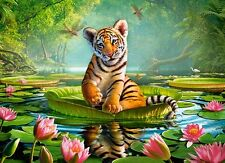 NEW! Castorland Tiger Lily 300 piece big cat jigsaw puzzle