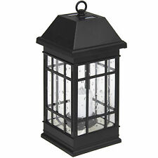 Best Choice Products Smart Hanging Solar Lantern Light LED Candle Mission Style