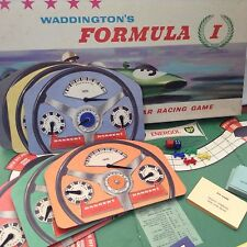Vintage Waddington's FORMULA 1 The Great Car Racing Game 1960s Rare Find