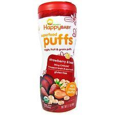 Nurture Inc. Organics Superfood Puffs, Finger Food, Strawberry & Beet, 60 g