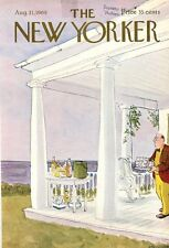 1968 James Stevenson ART COVER ONLY -Party preparation on the porch