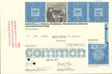 MERRILL LYNCH stock certificate   now Bank of America BAML