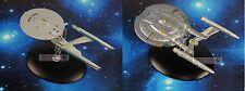 Eaglemoss STAR TREK USS Enterprise NCC 1701 vs NX-01 Model Starship Set of 2