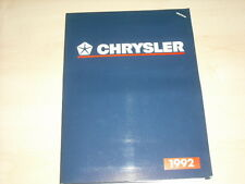 56263) Chrysler Voyager - Cherokee Le Baron Cabrio Coupe Pressemappe 1992