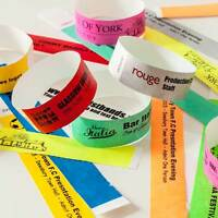 Custom Printed and Plain Tyvek Wristbands, paper like, security, festivals PAPER