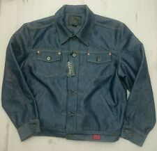 New Men's Guess Jeans Blue Denim Jacket Size Large. Gift  slick denim fashion
