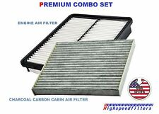 COMBO Engine & CHARCOAL Cabin Air filter set For 2011-2015 HYUNDAI Sonata HYBRID