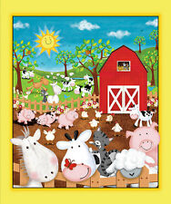 "Quilting Treasures Animal Farm Cotton Fabric Panel 36"" x 44"""