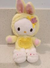 "Sanrio 2009 Hello Kitty Wearing Yellow Bunny Costume 7"" Plush"
