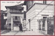 NOVARA ORTA SAN GIULIO 129 ISOLA - TIPOLITOGRAFIA ANTONIOLI GOZZANO Cartolina