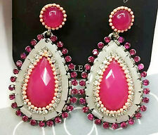 Wholesale Fashion Red Crystal Rhinestone Ear Drop Dangle Stud Earrings Gift 853