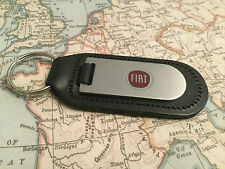 GENUINE ORIGINAL FIAT LEATHER KEYRING KEYFOB