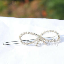 1Pc Lovely Girl bridal Crystal Bowknot Barrette Hair Clip Hairpin Accessories