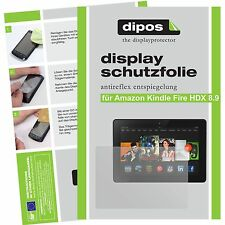 2x Amazon Kindle Fire HDX 8.9 Schutzfolie matt Displayschutzfolie Folie dipos