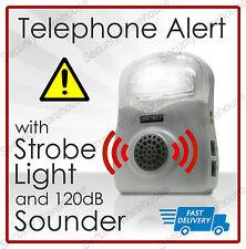 FLASHING Telephone CALL ALERT RINGER Amplifier Loud Speaker HEARING AID LIGHT