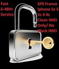 SFR FRANCE Unlock Code Apple iPhone 5s 5c 5 4S 4G Only Clean & Activated IMEI