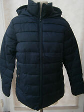 BRAVE SOUL LADIES LIGHTLY PADDED QUILTED HOODED JACKET NAVY SIZE 8 NEW