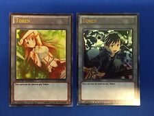 Sword Art Online SAO Kirito and Asuna Custom Ultra Rare Yugioh Tokens