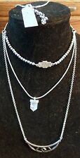 Lucky Brand Ice-White Stones - Detachable Bracelet Necklace Set New Tags MSRP$49