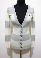 ABERCROMBIE & FITCH Cardigan Donna Cotton Cashmere Woman Sweater Sz.XS - 38