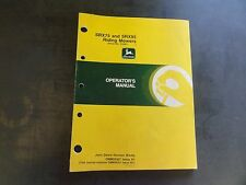 John Deere SRX75 and SRX95 Riding Mowers Operator's Manual  OMM95307 Issue A1
