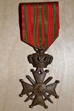 E*  Médaille croix de guerre belge guerre 14 18 POILU ROYAUME BELGIQUE N°4 medal
