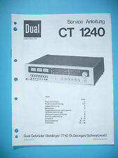 Service-Manual für Dual CT 1240 Tuner,ORIGINAL!!!
