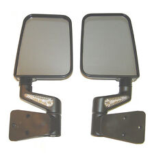 87-02 Jeep Wrangler YJ & TJ Heated Mirror Kit w/ LED Turn Signals PAIR - Black