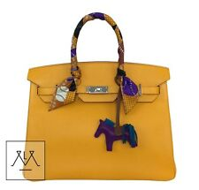 Hermes Birkin Bag 35cm Epsom Leather Jaune d'Or (Yellow) PHW - 100% Authentic