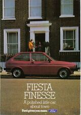 Ford Fiesta Mk 1 Finesse circa 1983 - 950 1100 1300 Original Brochure No. FA615