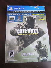 CALL OF DUTY INFINITE WARFARE Legacy Edition PS4 Presige Icon Pack UNUSED
