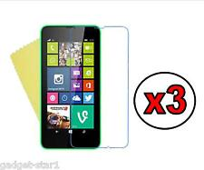 3x HQ CRYSTAL CLEAR SCREEN PROTECTOR COVER FILM GUARD FOR NOKIA LUMIA 630 / 635