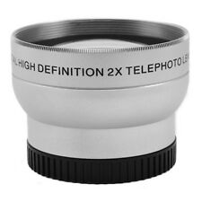 37mm 2.0X 2X Magnification Tele Telephoto Lens fr Canon Nikon Pentax DSLR Camera