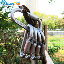 5pcs D-Ring Shape Outdoor Carabiner Spring Snap Key Chain Clip Hook Lock Buckle