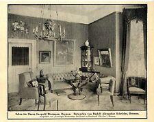 Salon im Hause Leopold Bierman Bremen R.A. Schröder Kunst im Handwerk Wer...1912