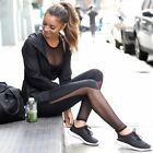 2016 Sexy Mesh Patchwork Leggings Sport Stretchy Pantalones Gym Workout