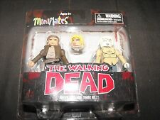 HUNTER CHRIS and ZOMBIE HOLLY WALKING DEAD MINIMATES FIGURES NEW SEALED L@@K
