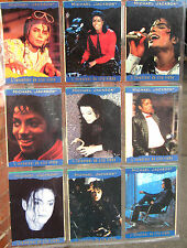 MICHAEL JACKSON Trading Cards History PANINI 1996 x 9 BLUE Borders METALLIC SET4