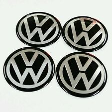 Vw 90mm Centro Tapas pegatina Insignias Set De 4