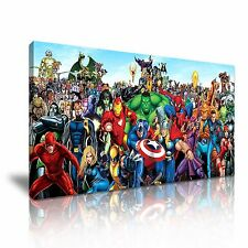 Marvel DC Comic Superheroes Canvas Wall Art 60x30cm / 24x12inch