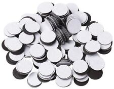 "250 Magnets 1/2"" Round Disc with Adhesive Backing - 250 Count Pack"