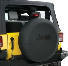 "Black Denim Jeep Wrangler Spare Tire Cover Wheel R17 32"" 33"" New Free Shipping"