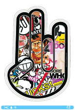 THE SHOCKER HAND Sticker bombed bomb OEM JDM DUB Tuning Style Sticker