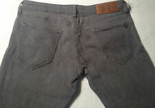 EUC - RRP $299 - Womens Stunning Rare Replay 'SKINNY'  Grey Jeans Size: 13 L38