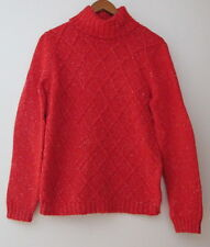 Macy's Anne Klein Cable Knit Turtle Neck Sweater - Vibrant Red - Size Small -NWT