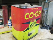 2 GALLON CAN co op FARMERS UNION SERVIC STATION MOTOR OIL ORIGINAL EARLY  EMPTY