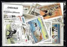Chevaux 50 timbres différents oblitérés
