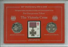 The Victoria Cross VC Valour Combat Medal Army Military Coin Stamp Gift Set 2006