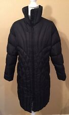 L.L. Bean Womens Black Long Goose down Winter Coat Size Medium