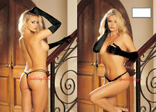 Lined Spandex Double strap G-String FULLY LINED Shirley of HOLLYWOOD Black White